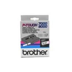 BROTHER CINTA ROTULADORA BLANCO/ROJO 12MM