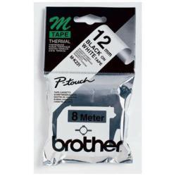 BROTHER CINTA ROTULADORA BLANCO/NEGRO 12MM