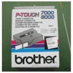 BROTHER CINTA ROTULADORA BLANCO/NEGRO 24MM