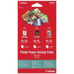 Canon Variety Pack VP-101 - kit de papel fotográfico - 15 hoja(s) - 100 x 150 mm