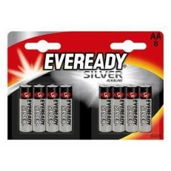 ENERGIZER LR6BL/8 AA EVEREADY SILVER NEW