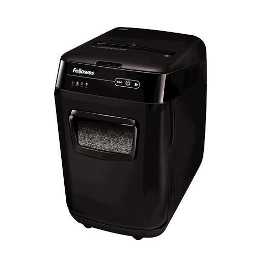 FELLOWES Destructora AutoMax Microcorte 200M Microcorte 2x14mm, cajón max 200 hojas, 32L
