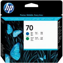 HP 70 - azul, verde - cabezal de impresión