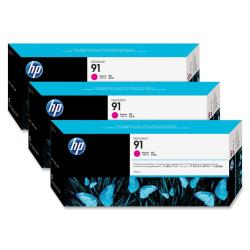 HP INC TINTA MAGENTA HP 91 PK 3