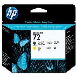 HP INC CABEZAL NEGRO MATE Y AMARILLO HP 72