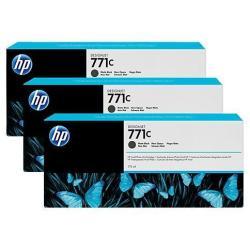 HP INC TINTA NEGRO MAT HP 771C 775 ML PK 3