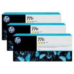 HP INC TINTA AMARILLA HP 771C 775 ML PK 3
