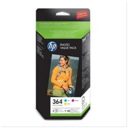 HP INC PACK TINTA 364 PAPEL 85H 10X15 BL
