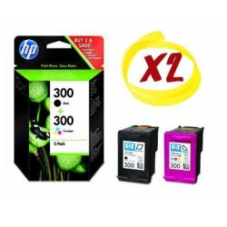 HP INC PACK TINTAS NEGRA/TRICOLOR HP 300
