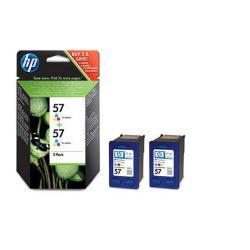 HP INC TINTA TRICOLOR HP 57 PK 2 BLISTER