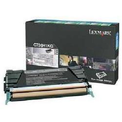 LEXMARK TONER NEGRO AC RETORNABLE C73X/X73X