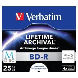 VERBATIM M-DISC BD-R 4X PRINTABLE 5 PACK JC