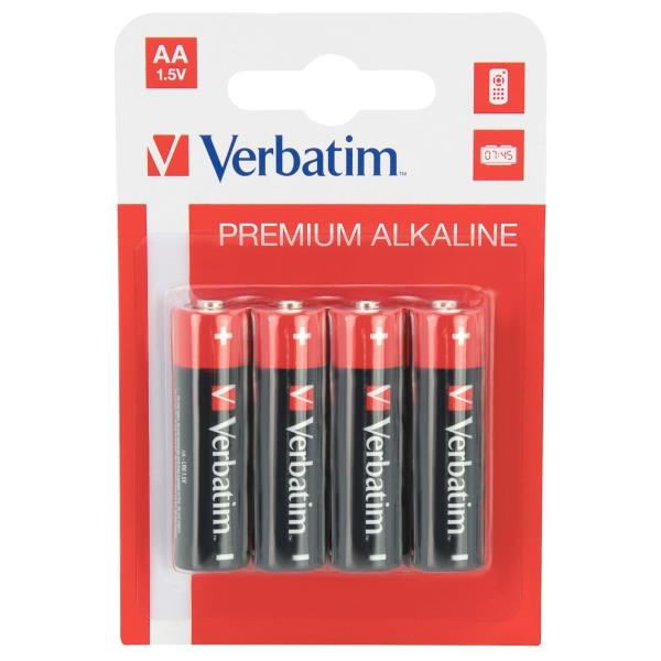 Verbatim batería - 4 x tipo AA - Alcalino