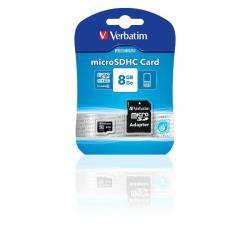 VERBATIM MICRO SDHC 8GB CL10 ADAPTER PREMIUM