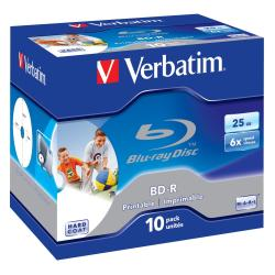 VERBATIM BD-R 6X SINGLE LAYER 25GB PACK 10UD