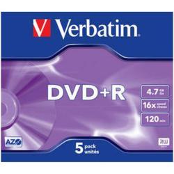 DVD+R 4.7 16X JEWELL 5 VERBATIM