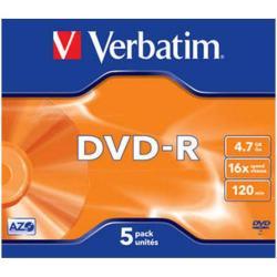 Verbatim - DVD-R x 5 - 4.7 GB - soportes de almacenamiento