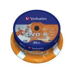 VERBATIM DVD-R 4.7 16X LATA 25 IMPRIMIBLE