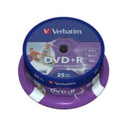 DVD+R 4.7 16X LATA 25 IMPR VERBATIM