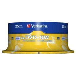 Verbatim - DVD+RW x 25 - 4.7 GB - soportes de almacenamiento