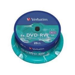 DVD-RW 4.7 4X LATA 25 VERBATIM