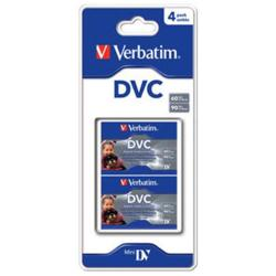 VERBATIM PACK DE 4 DIGITAL VIDEO CASSETTES DE 60 MINUTOS