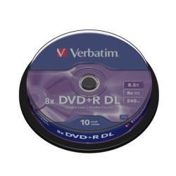 Verbatim - DVD+R DL x 10 - 8.5 GB - soportes de almacenamiento