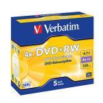 Verbatim DataLifePlus - DVD+RW x 5 - 4.7 GB - soportes de almacenamiento