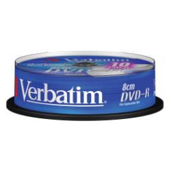 DVD-R 1.4 8CM LATA 10 IMPR VERBATIM
